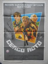 Breakthrough, Cerco Roto, Original Spanish Poster, Richard Burton, Mitchum, '79